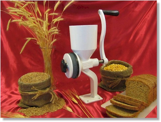 Sunshine Nugget Hand Grain Mill / Wheat Grinder - CLICK HERE FOR MORE INFO